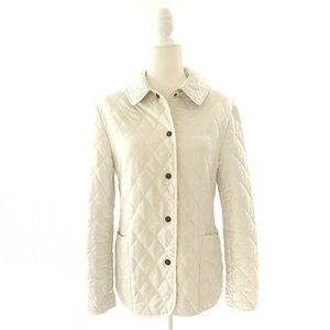 Burberry Classic Constance Quilted Jacket Ivory S
